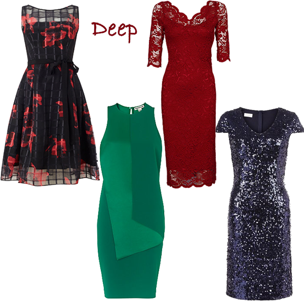 Dresses for Deep colouring