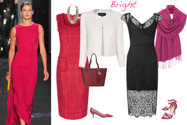 How to wear pink bright colouring