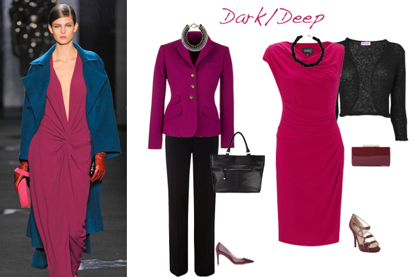 how to wear pink deep colouring