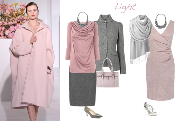 how to wear pink - light colouring