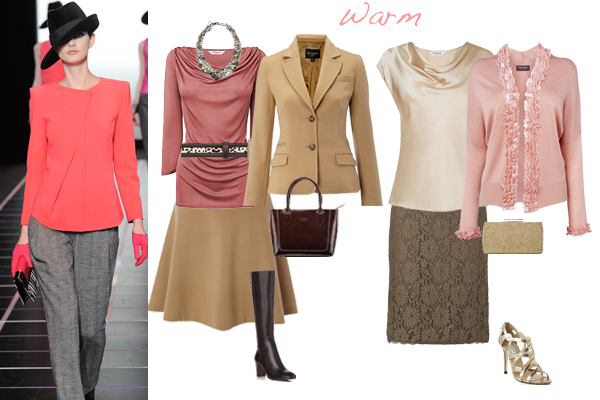 how to wear pink warm colouring