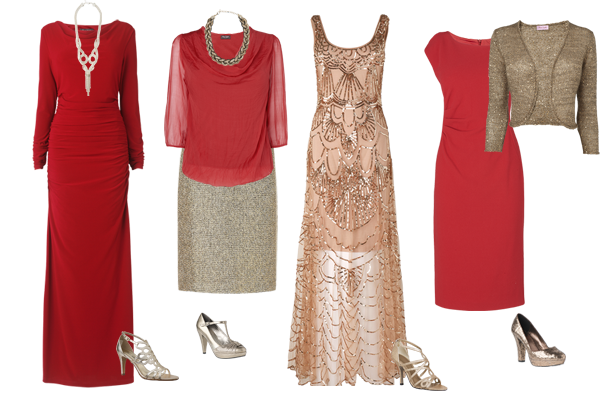 how to wear red and gold