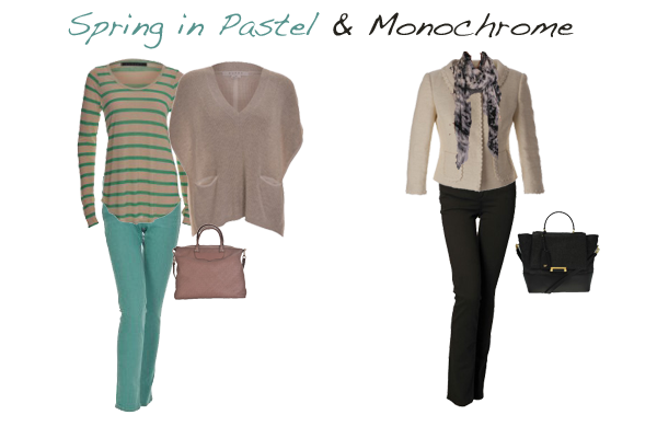 Spring trends pastel and monochrome