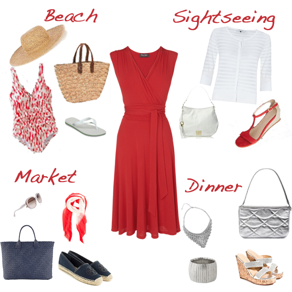one versatile dress 4 looks