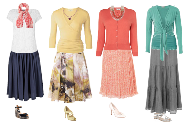 how to wear summer skirt