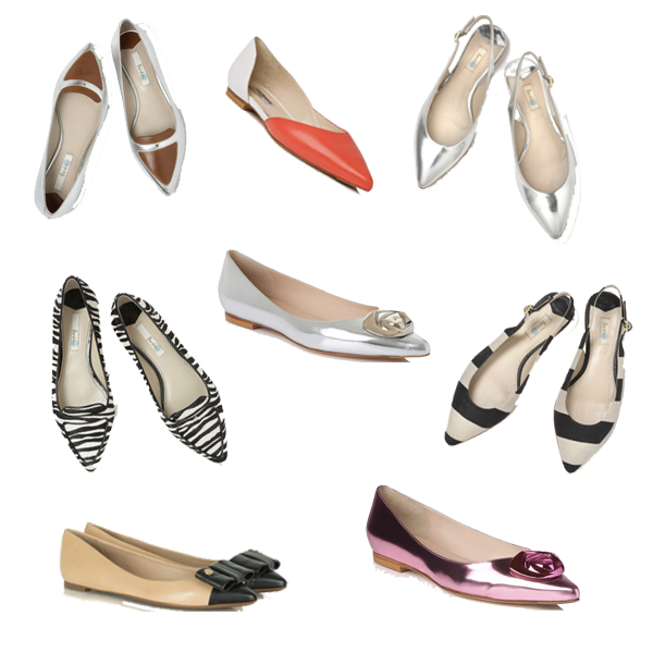 spring shoe trend, pointed flat shoes