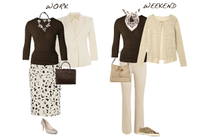 how to wear neutrals and animal print, capsule wardrobe