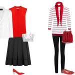 how to wear, black white and red