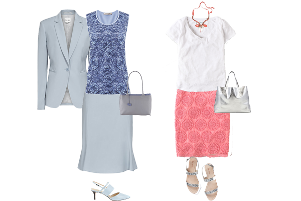 how to wear lace, lace pieces worn smart and casual
