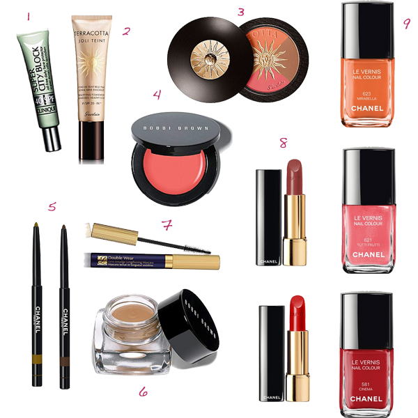 what to pack, holiday makeup