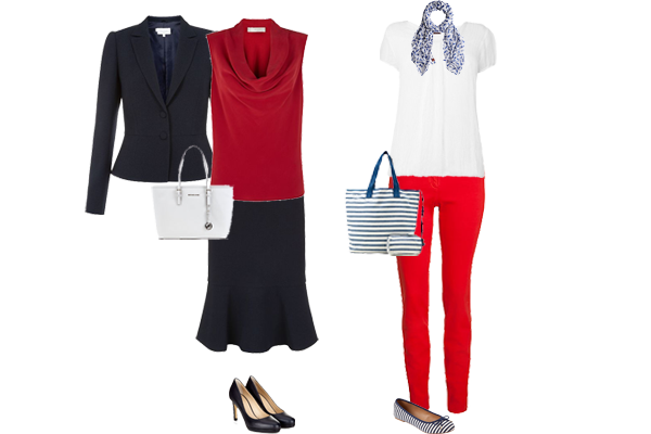 How to wear red, weekly outfit