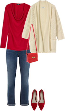 How to wear red, capsule wardrobe
