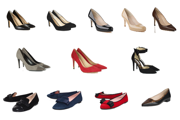business capsule wardrobe shoes