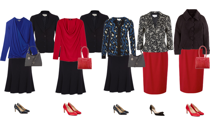 Business capsule wardrobe autumn