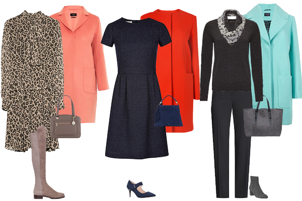 how to wear bright coat