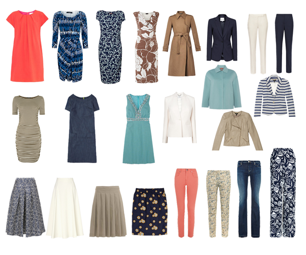 how to create a capsule wardrobe, Spring capsule wardrobe