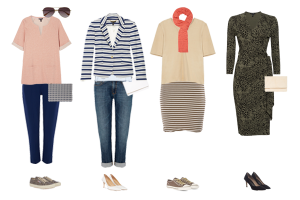 capsule wardrobe outfits, Baukjen Spring collection