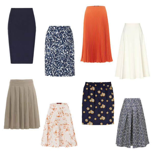how to choose skirts for a capsule wardrobe