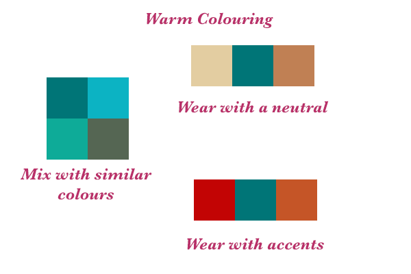 How to wear Teal, How to mix colours in your wardrobe