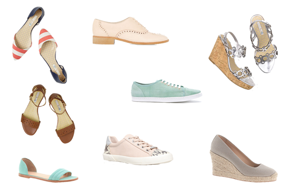 Capsule wardrobe shoes, casual shoes