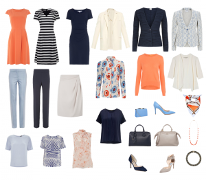 Capsule wardrobe example, executive business wear capsule wardrobe