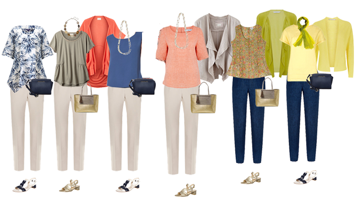 Holiday capsule wardrobe example