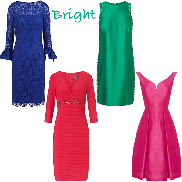 Party dresses for bright colouring