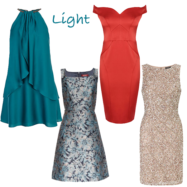 Party dresses for light colouring