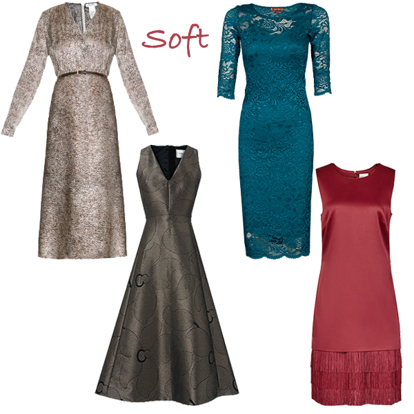 party dresses for soft colouring