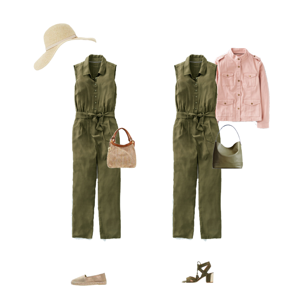 How to wear a jumpsuit, capsule wardrobe staples,