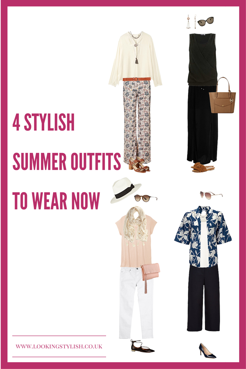 Summer outfit inspiration, how to wear, crop trousers, white jeans, wide leg trousers, maxi skirt