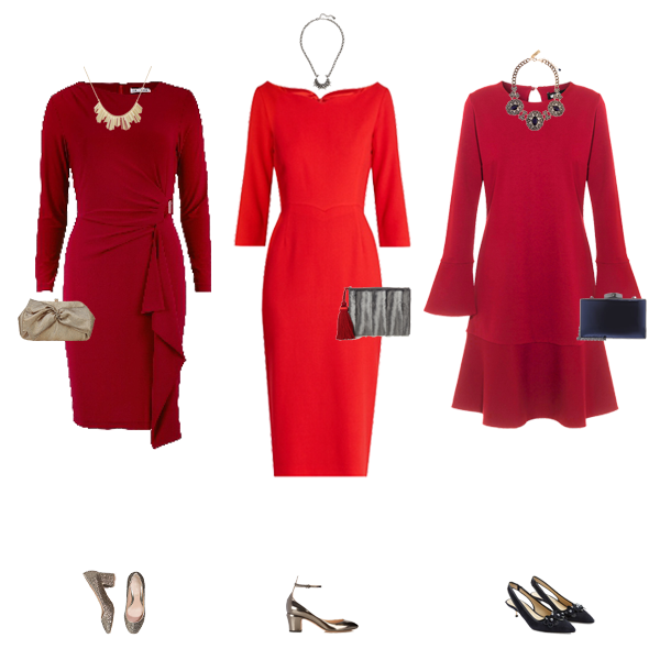 What to wear on Christmas day, How to wear a red dress
