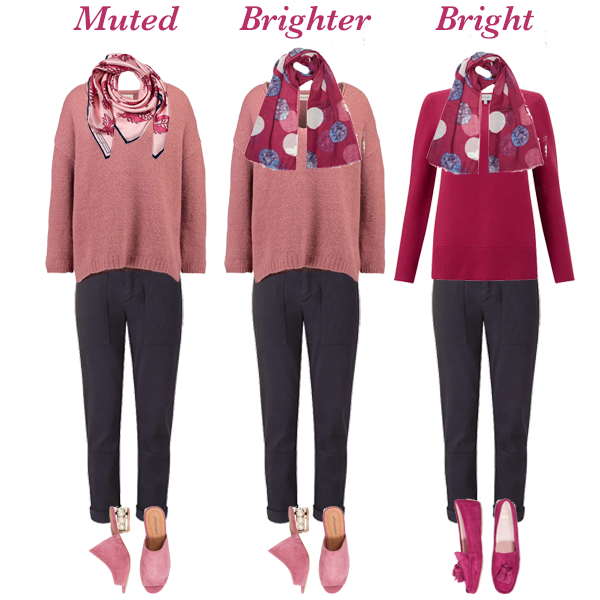 How to wear colour, bright versus muted colours