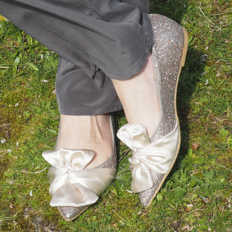 sparkly shoes, flat shoes for evenings