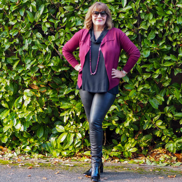 How to wear leather leggings, style over 50