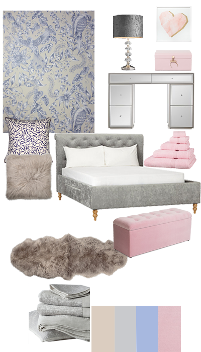 using a mood board for inspiration, creating a guest bedroom