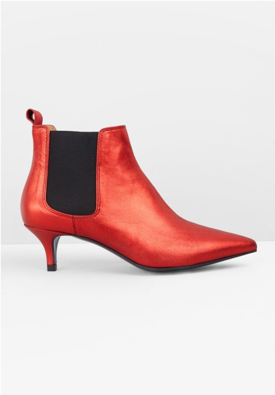 transitional ankle boots, Hush red kitten heeled boots