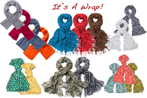 scarves looking stylish
