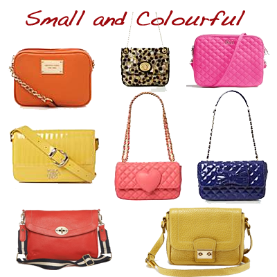 small colourful bags looking stylish
