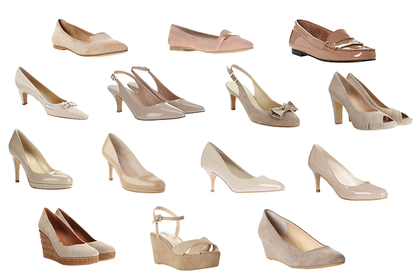 what to wear nude-shoes