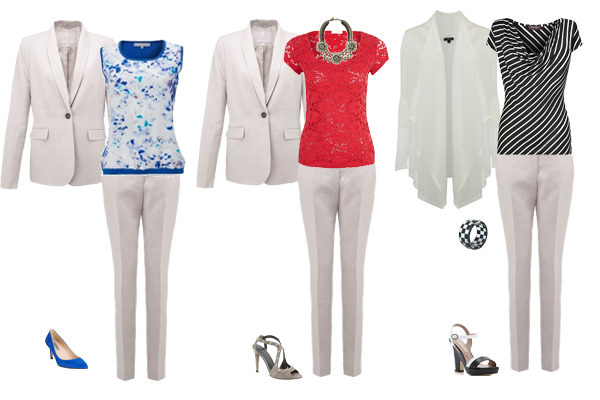 summer suit styled 3 ways