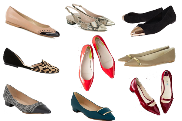 pointed flats, on trend flat shoes, wardrobe staple