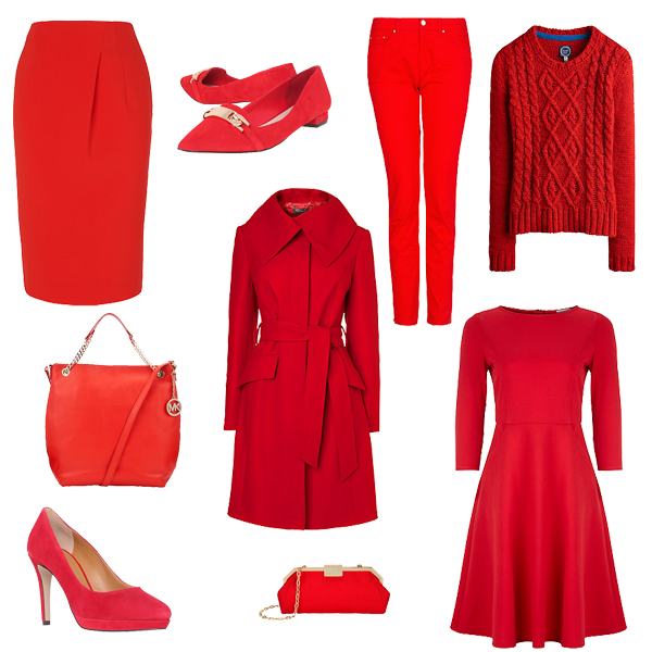 autumn trend red, how to wear red