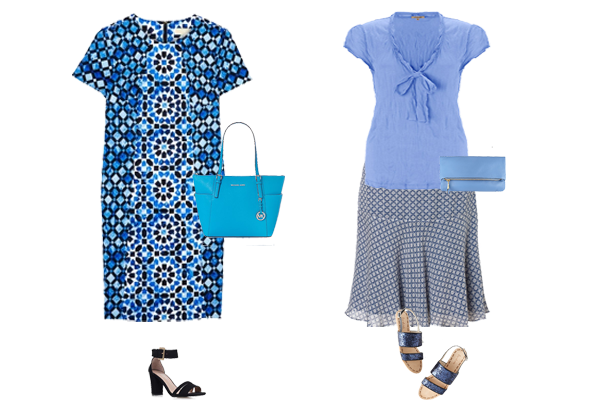 capsule wardrobe, blue outfit