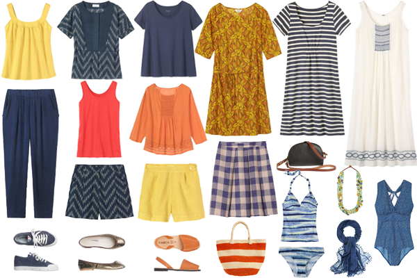 summer holiday capsule wardrobe