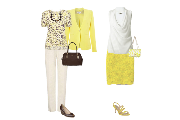how to wear yellow,