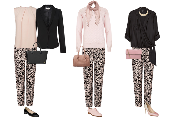 How to wear relaxed print trousers