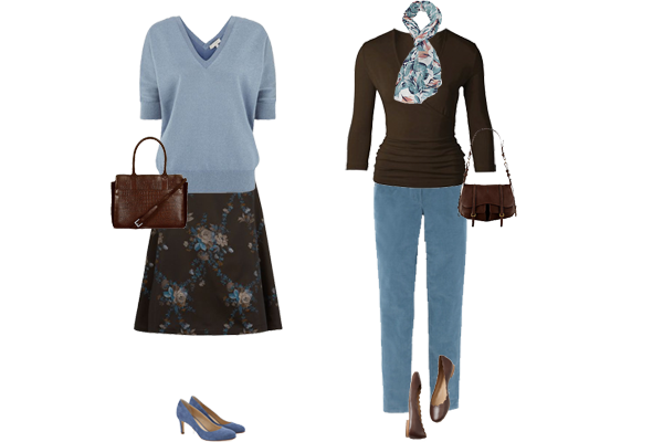 capsule wardrobe, mixing colours, weekly outfit