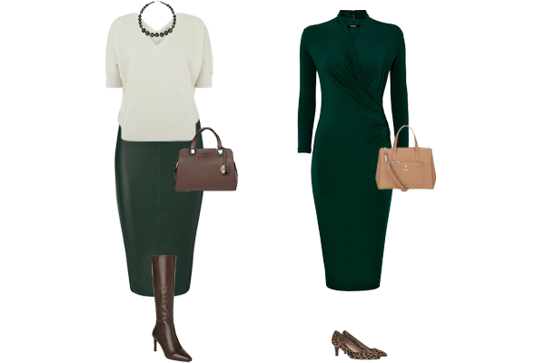 Weekly outfit, how to wear green