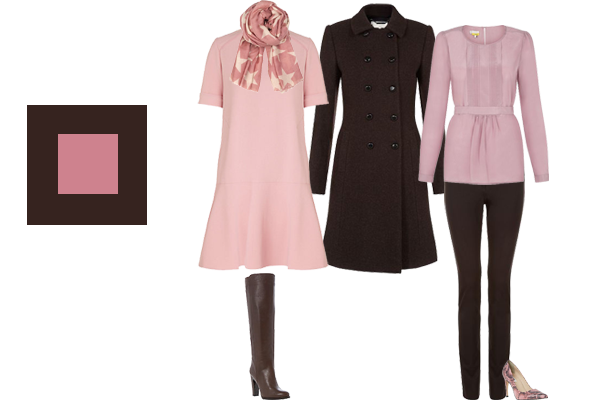 how to wear chocolate and blush pink, autumn trend colours